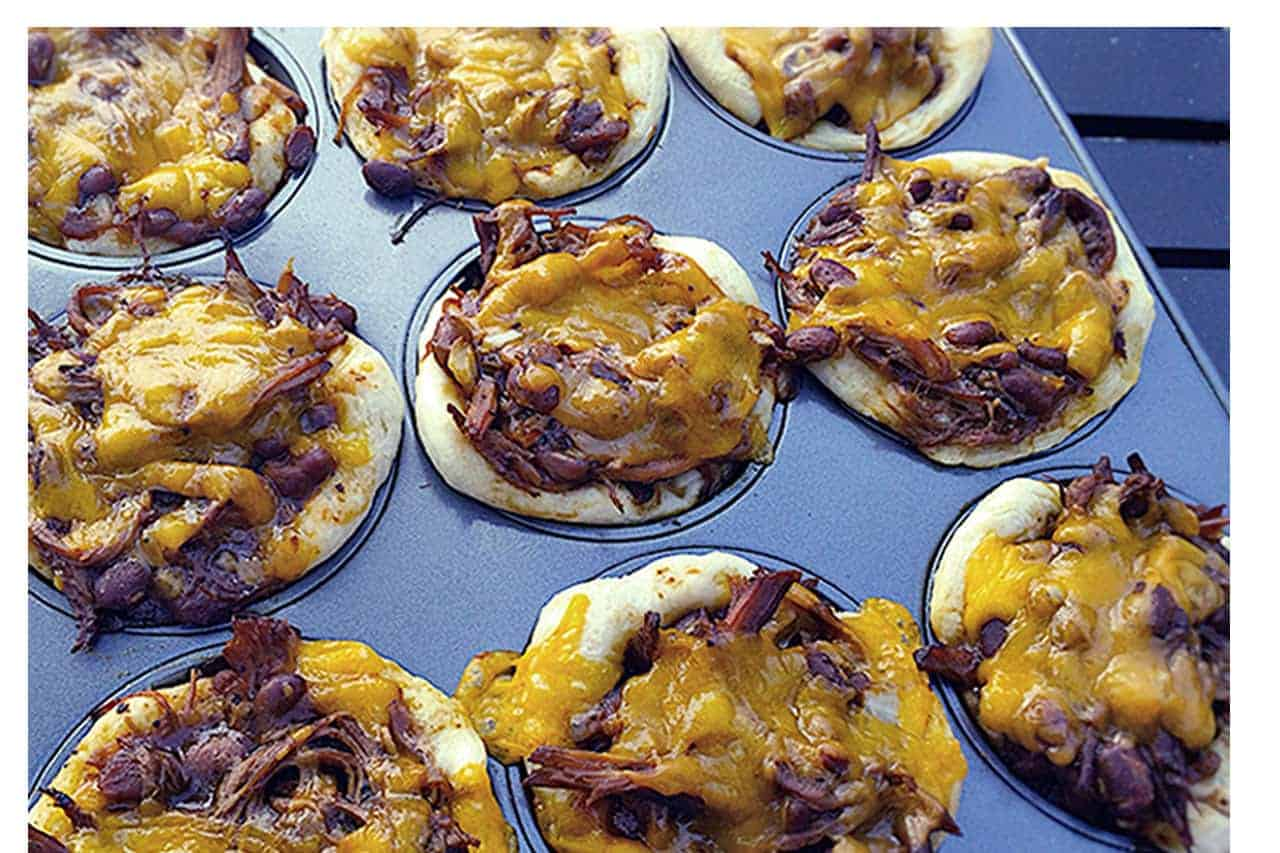 Barbecue brisket cups