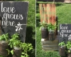 Board and jar herb planters