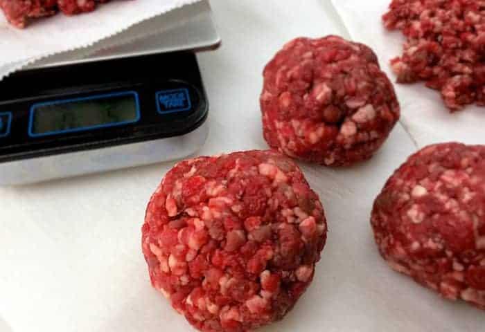 Ground beef balls for patties