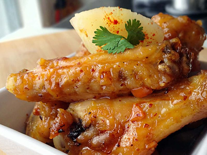 Habanero-pineapple wings