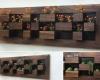 Indoor walnut wall planter