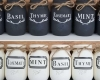 Painted Mason jar planters