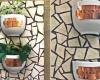 Mosaic herb planter