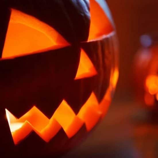 Jack -o'-lanterns on Halloween