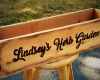 Personalized cedar planter