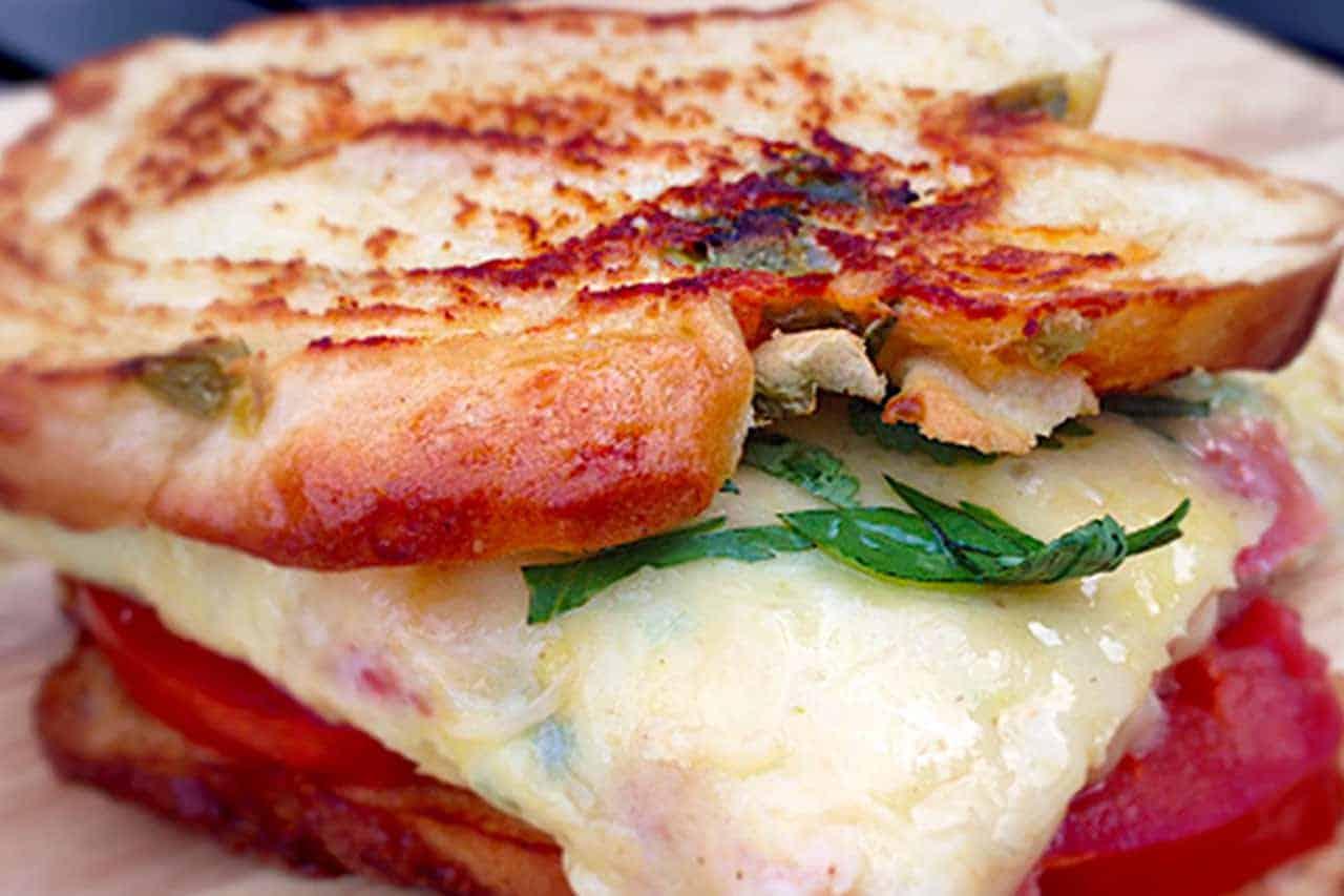 Southwest omelet sandwich