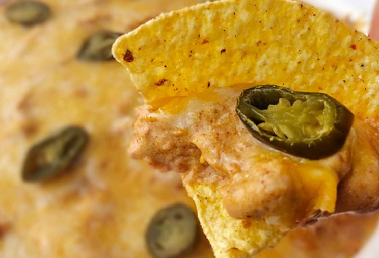 Spicy taco bean and cheese dip